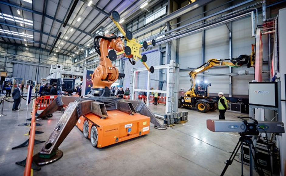 Pictured: Construction equipment innovations demonstrated at the Manufacturing Technology Centre